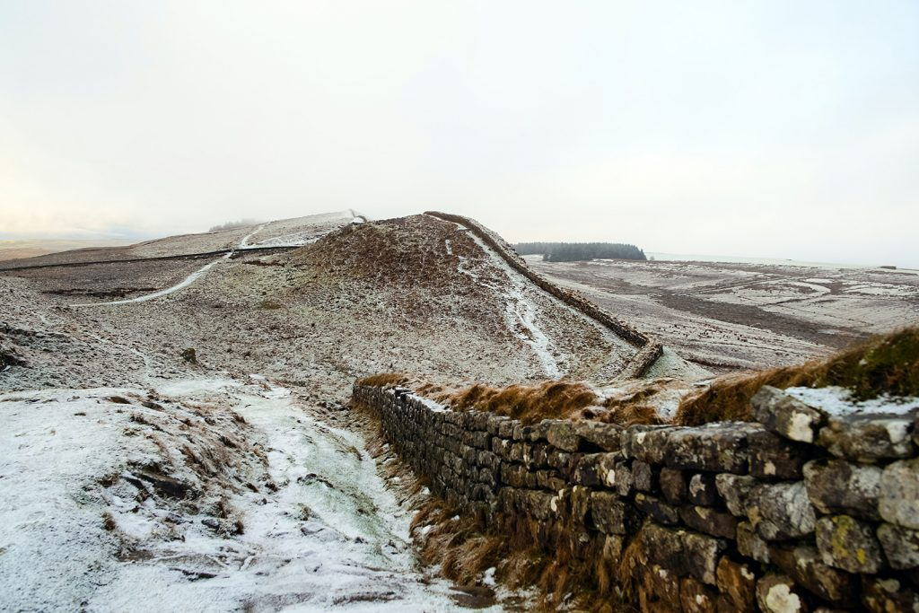A stretch of Hadrian's wall still intact