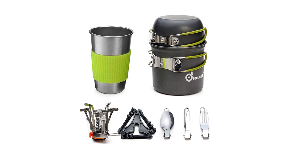 Cool Camping Accessories - Odoland Camping Cookware Kit