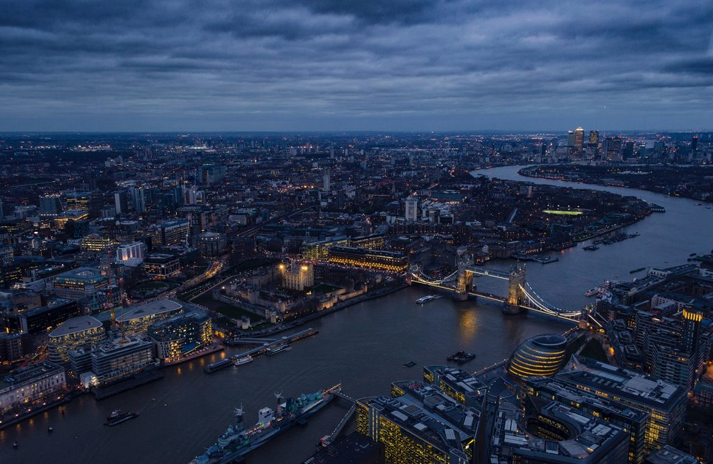 Central London and the River Thames