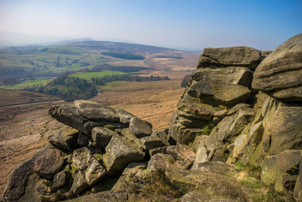 Dramatic rock formations of Stanage Edge