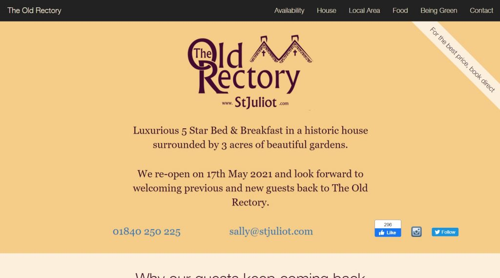 The Old Rectory website