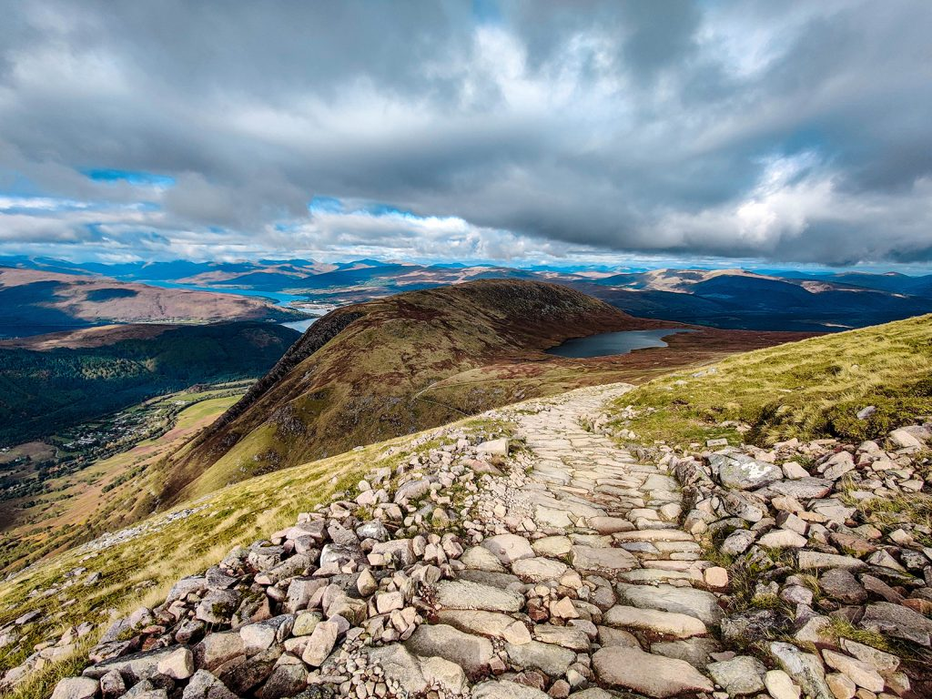 Views from Ben Nevis – part of the National Three Peaks challenge