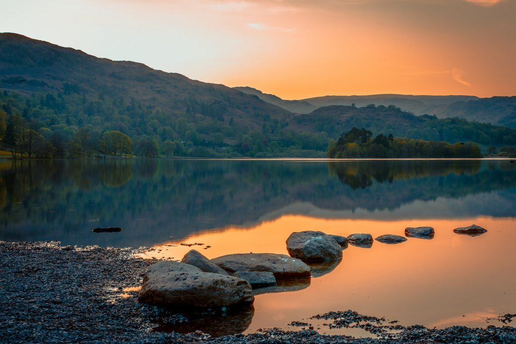 Beautiful landscapes and lakes of the Lake District