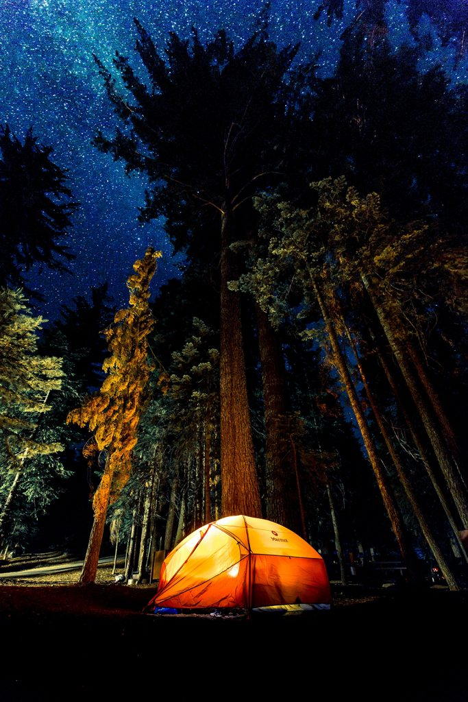 A camping light can make your life easier when camping