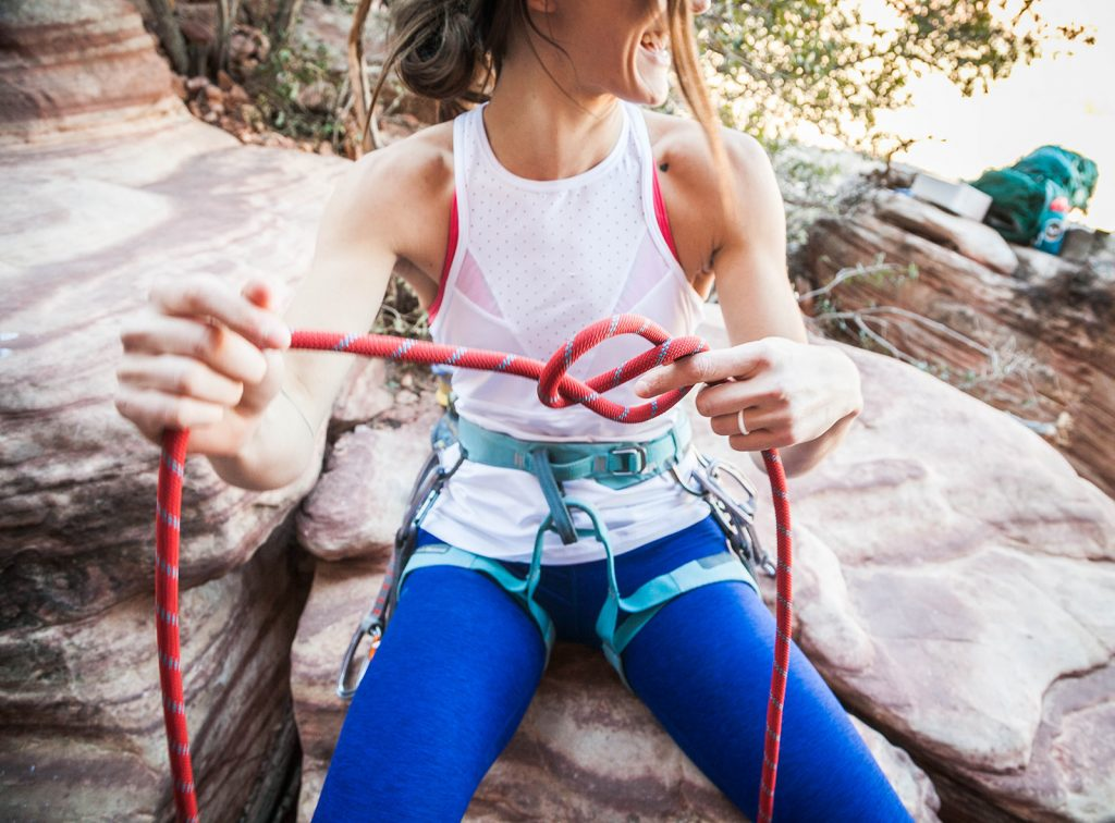 A harness is a vital piece of equipment for climbing