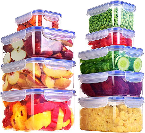 KICHLY Plastic Airtight Food Storage Containers