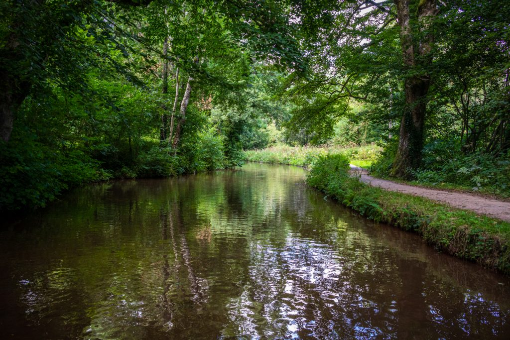 Peaceful stretches of the Monmouthshire and Brecon Canal