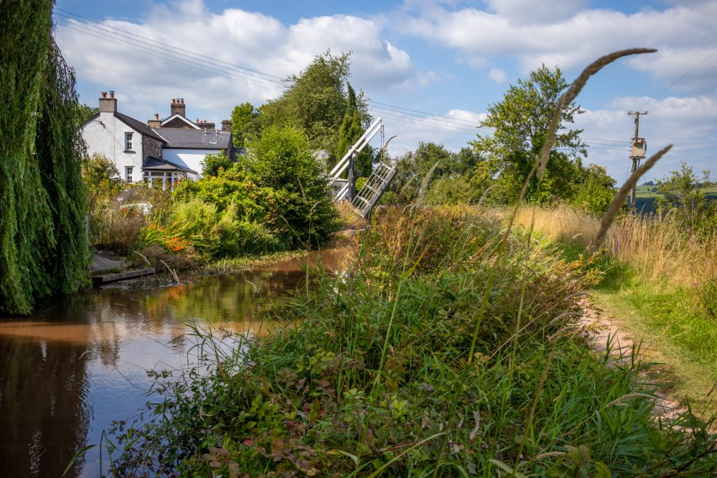 Idyllic scenery of the Monmouthshire and Brecon Canal
