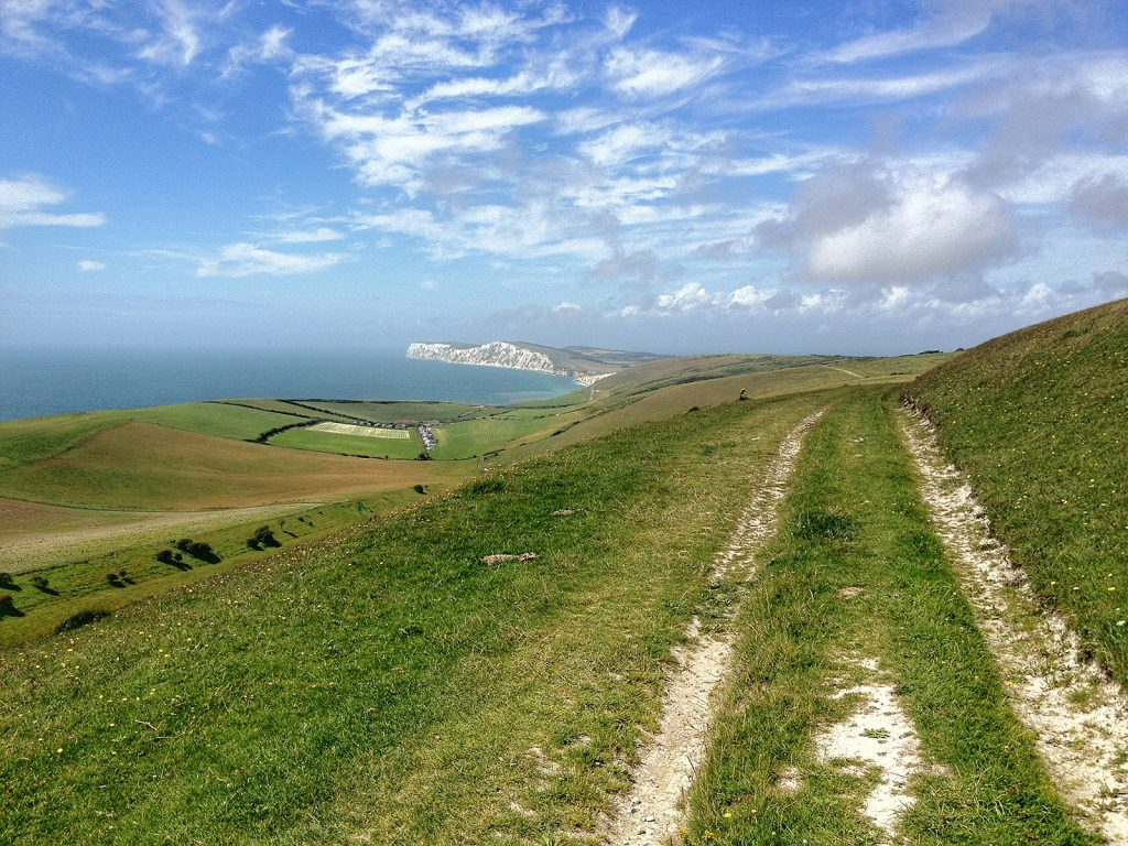 The dazzling coastline of the Isle of Wight