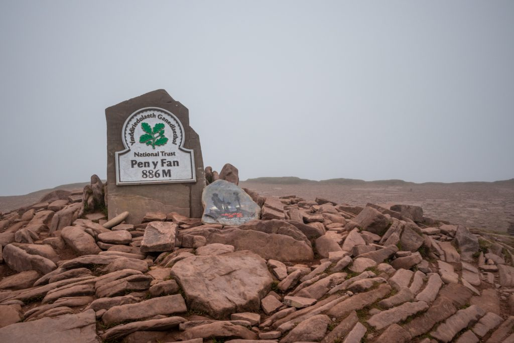 At the summit of Pen-Y-Fan – the highest mountain in South Wales