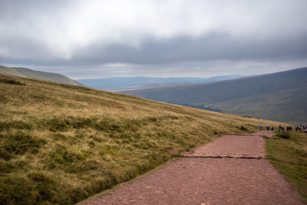 Views from the Pont ar Daf trail to Pen-Y-Fan