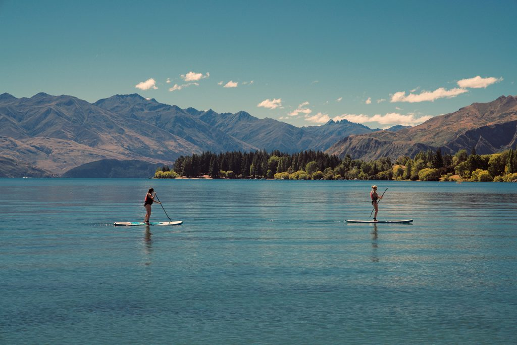 Paddleboarding in New Zealand