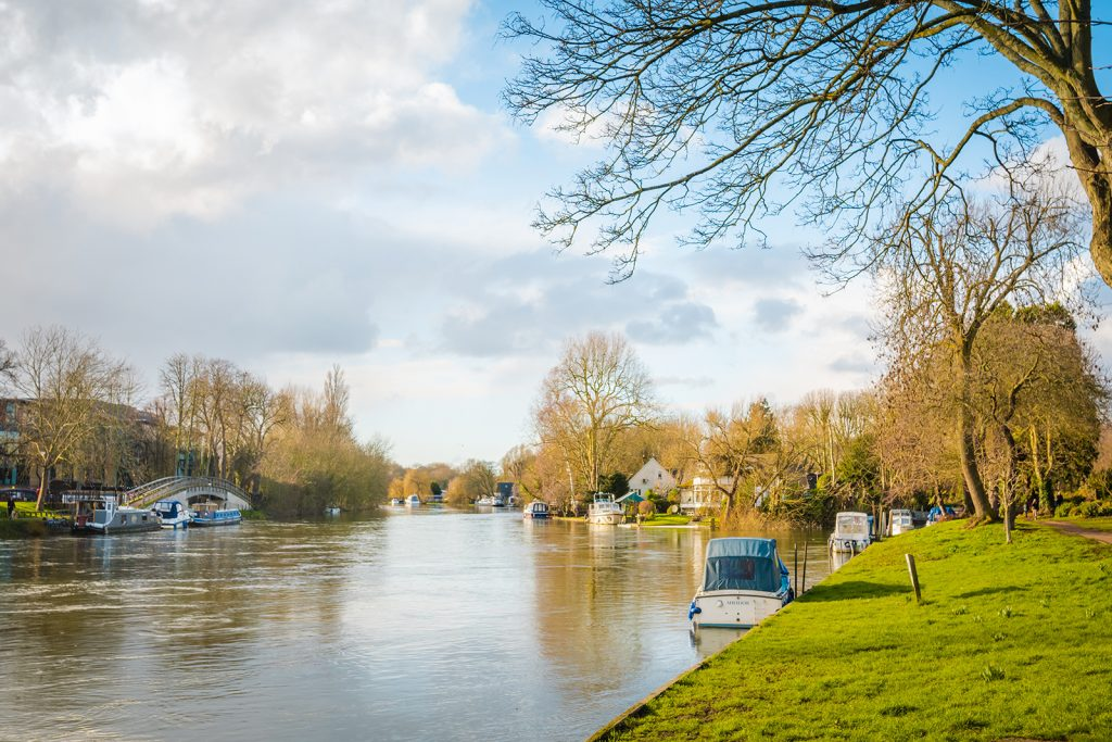 A beautiful stretch of the River Thames