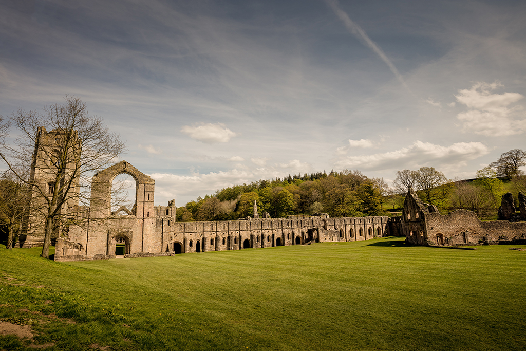 The majestic ruins of Fountains Abbey